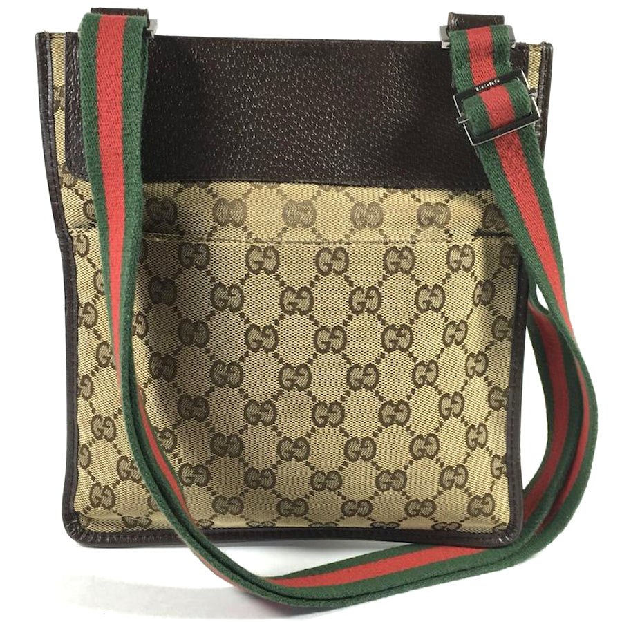 f438480445 Authentic Gucci Flat Messenger Bag – Spade Creations