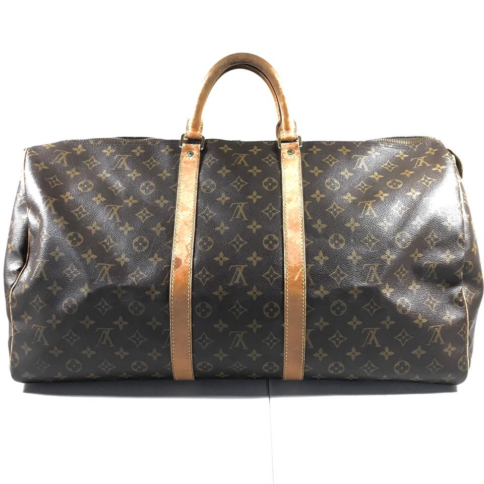076c00706 Louis Vuitton Monogram Keepall 55 Travel Bag | The Shred Centre