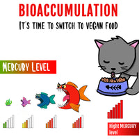 Avoid Toxins from Bioaccumulation with vegan cat & dog food