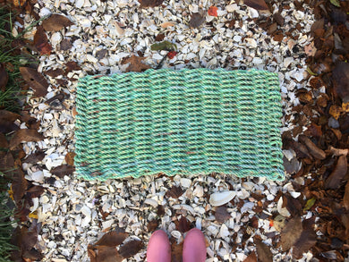 Green with Orange Tracer Rope Mats