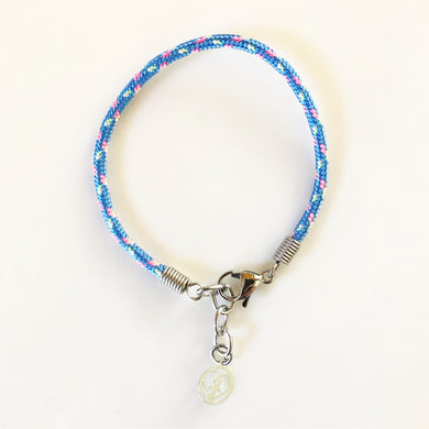 Blue pink and yellow bracelet