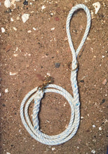 White or Dyed Blue with Blue Tracers Rope Leash