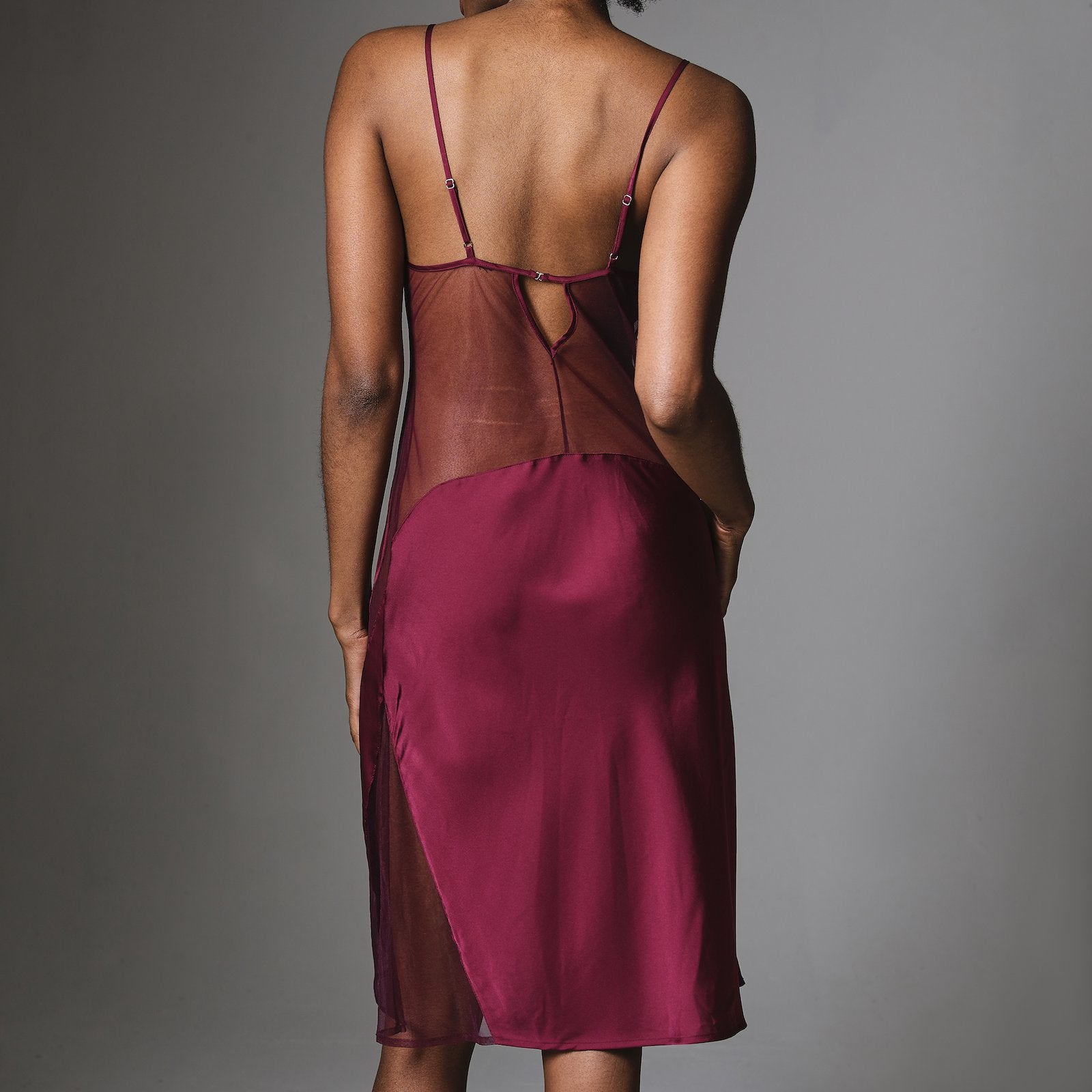 luxurious-burgundy-silk-slip-sheer-mesh