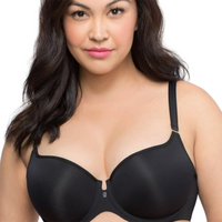 plus size push up bra black