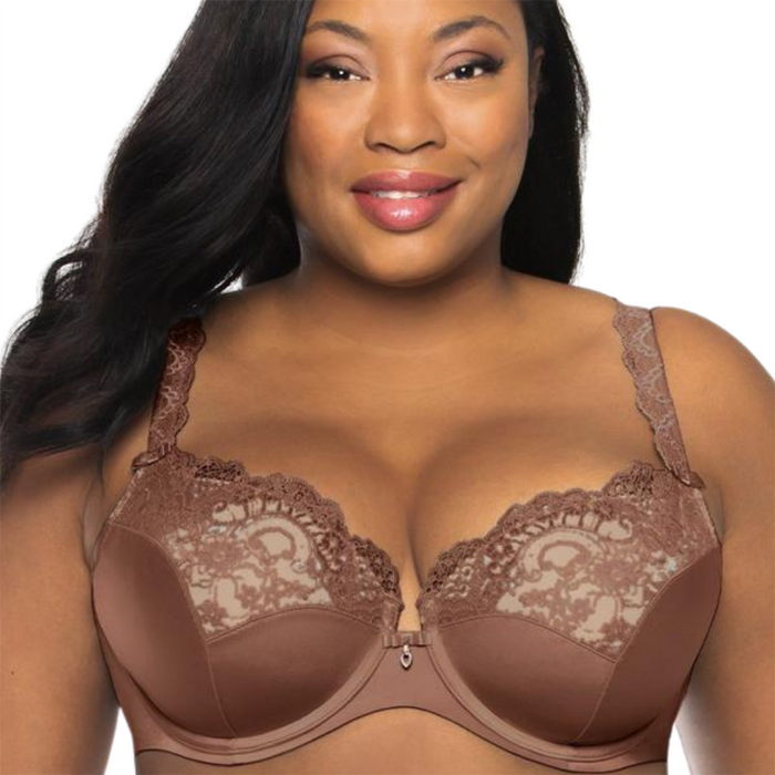 Lace plus size push up bra