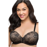 sexy black lace plus size bra