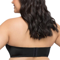 Black Lace Sexy Plus Size Strapless Bra