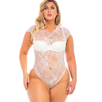Ysabel Eyelash Lace Bodysuit