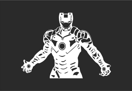 Iron Man Inspired Vinyl Decal for Mac