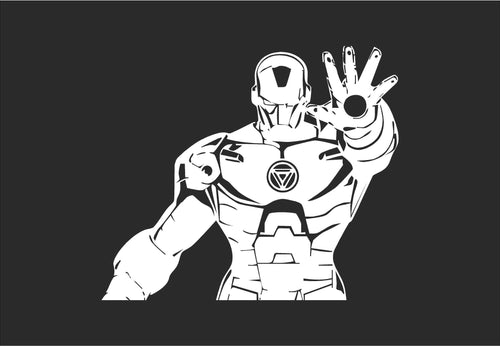 Iron Man Inspired Detailed Vinyl Decal for Mac