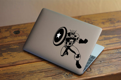 Captain America - Avengers Inspired Vinyl Decal for Mac