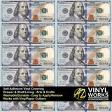 Hundred Dollar Bills Vinyl Roll