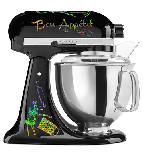 Rainbow Holographic Bon Appetit Mixer Set