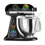 Rainbow Holographic Candy Skull Mixer Set