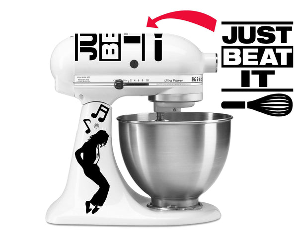 Just Beat It - King of Pop Inspired Vinyl Decal for Kitchenaid Mixers and More!