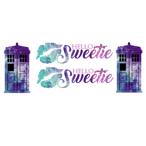Hello Sweetie Galaxy Decal Set