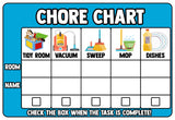 Dry Erase Chore Chart Wall Decal