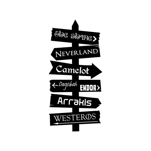 Fantasy Places Directional Decal