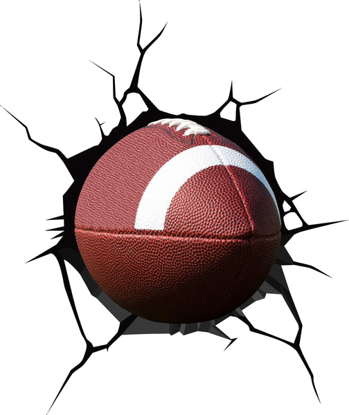 Football Crack Wall Decal