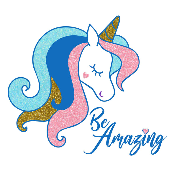 "Glitter ""Be Amazing"" Unicorn Apron"