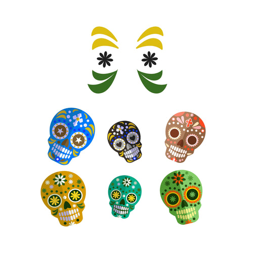 Sugar Skull Slow Cooker Decal