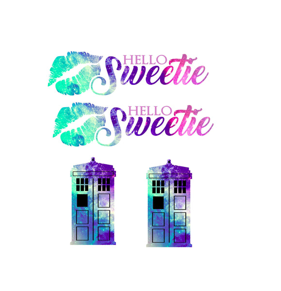 Hello Sweetie Galaxy Slow Cooker Decal