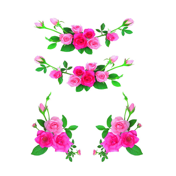 Hot Pink Roses Slow Cooker Decal
