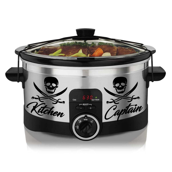 Black Kitchen Captain Slow Cooker Decal