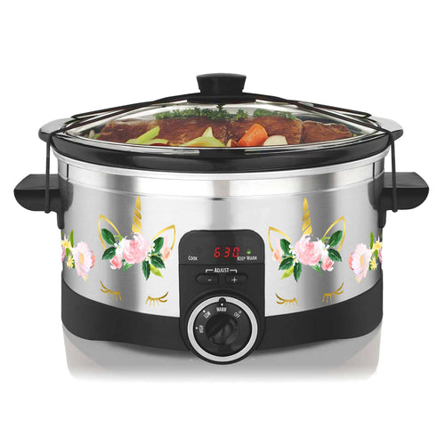 Unicorn Flowers Slow Cooker Decal