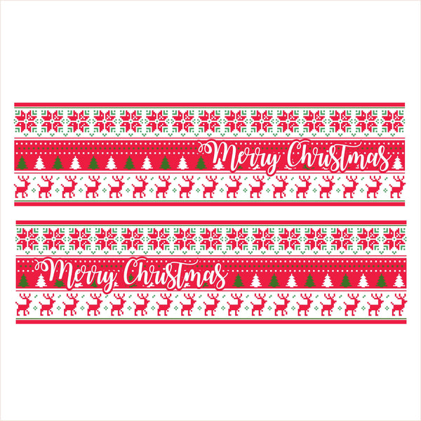 Merry Christmas Folk Art Slow Cooker Decal