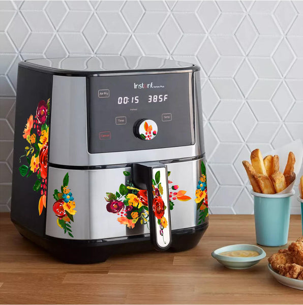 Vintage Watercolor Floral Decal Set for Air Fryer