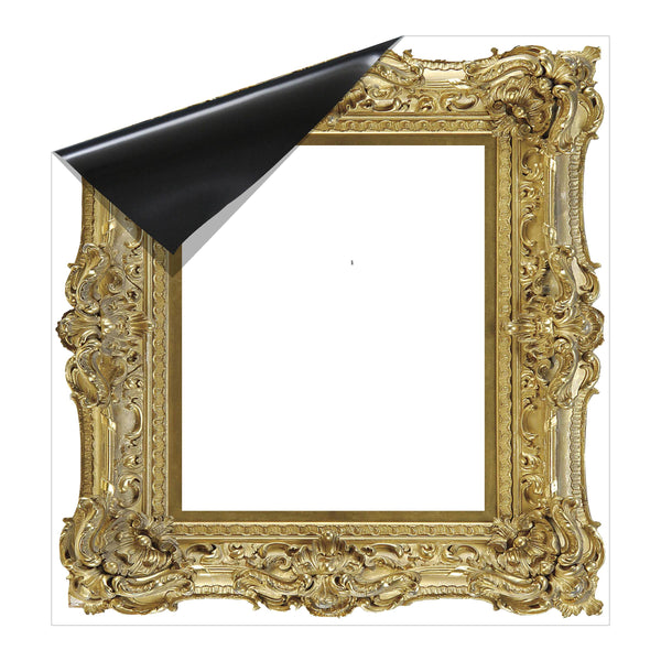 Gold Fancy Frame Coloring Dry Erase Magnet