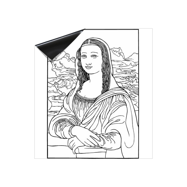 Mona Lisa Coloring Dry Erase Magnet for Dishwasher