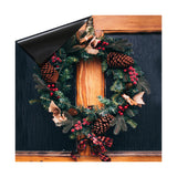 Christmas Wreath with Pinecones & Bow Dishwasher  Magnet