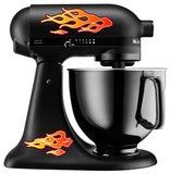 Flames Mixer Decal Set