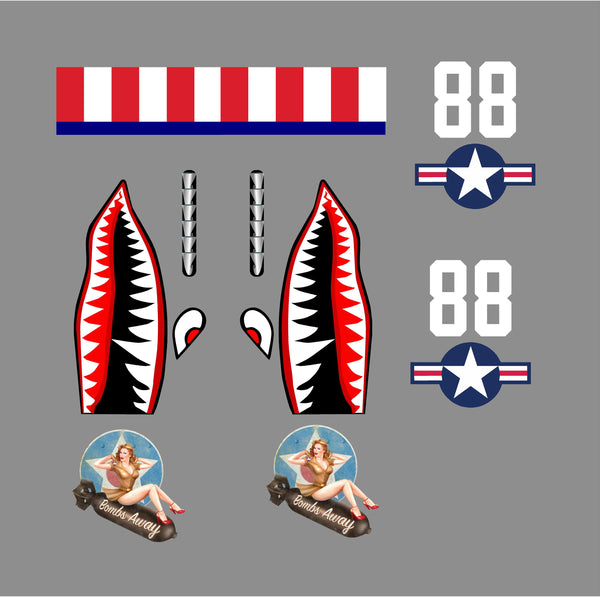 Ww2 Flying Tigers Decal Set Azvinylworks
