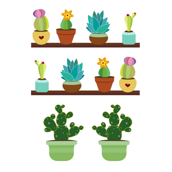 Succulents and Cacti Set