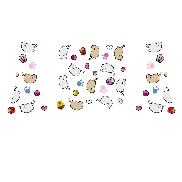 Cats and Treats Decal Set