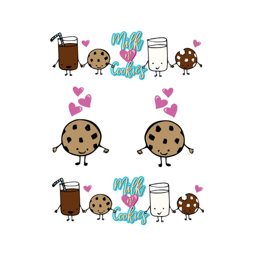 Milk and Cookies Decal Set
