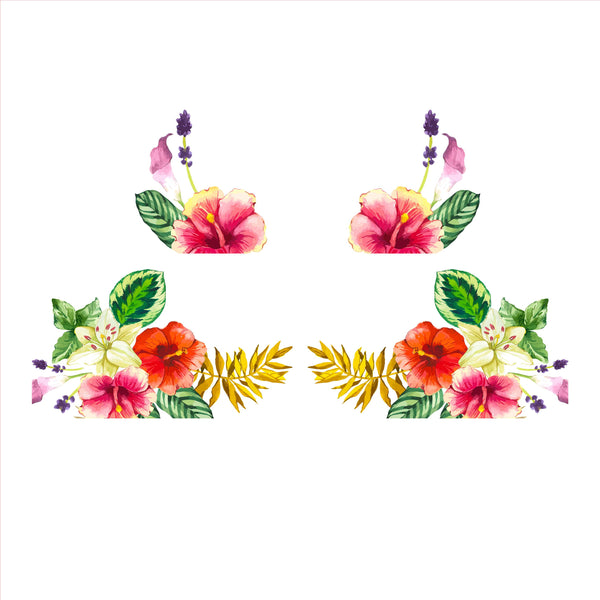 Tropical Flowers Decal Set
