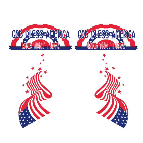 God Bless America Mixer Decal Set