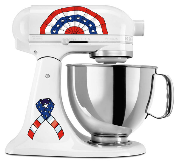 Hand Drawn Patriotic Mixer Decal Set