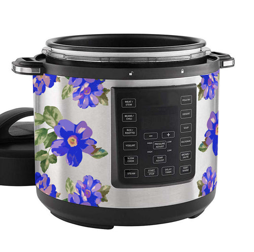 Blue Flower Woman Slow Cooker Decal Set