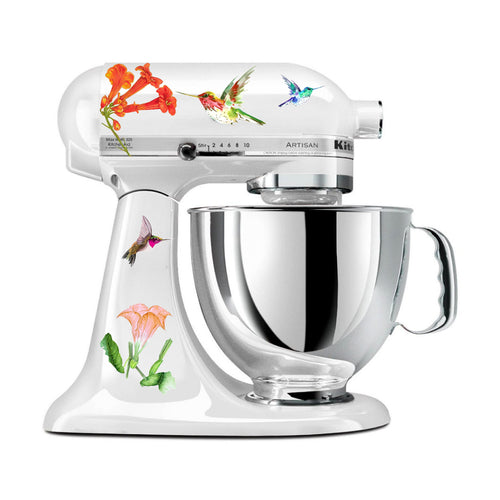 Hummingbird Trumpet Flower Mixer Decal Set