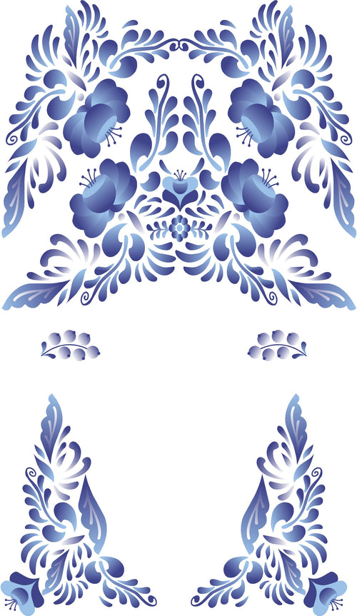 Russian Folk Flowers Decal Set