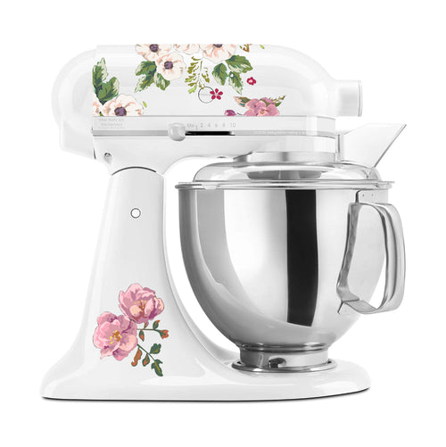 White Anemone Flowers Mixer Set