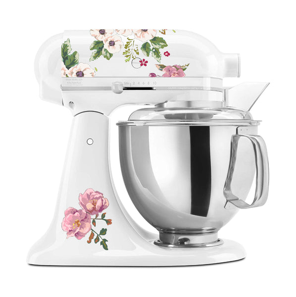 Traditional Pink Blossoms Mixer Set
