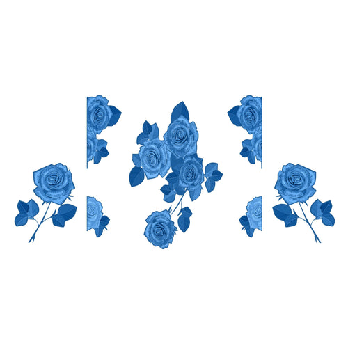 Blue Monochrome Flower Mixer Set