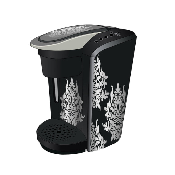 Damask Flower Decal Skin for Keurig