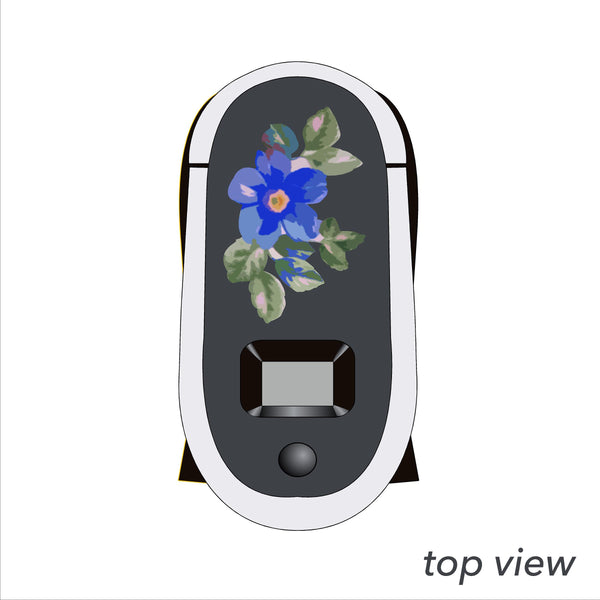 Blue Flower Woman Decal for Keurig